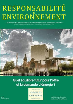 Concilier demande d'énergie et protection du capital naturel – Annales des Mines juillet 2019