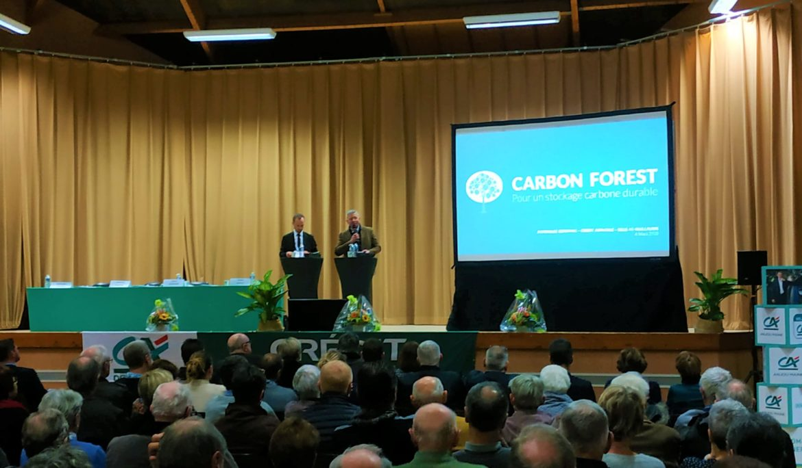 Carbon Forest invited by the french bank Crédit Agricole Maine-Anjouole