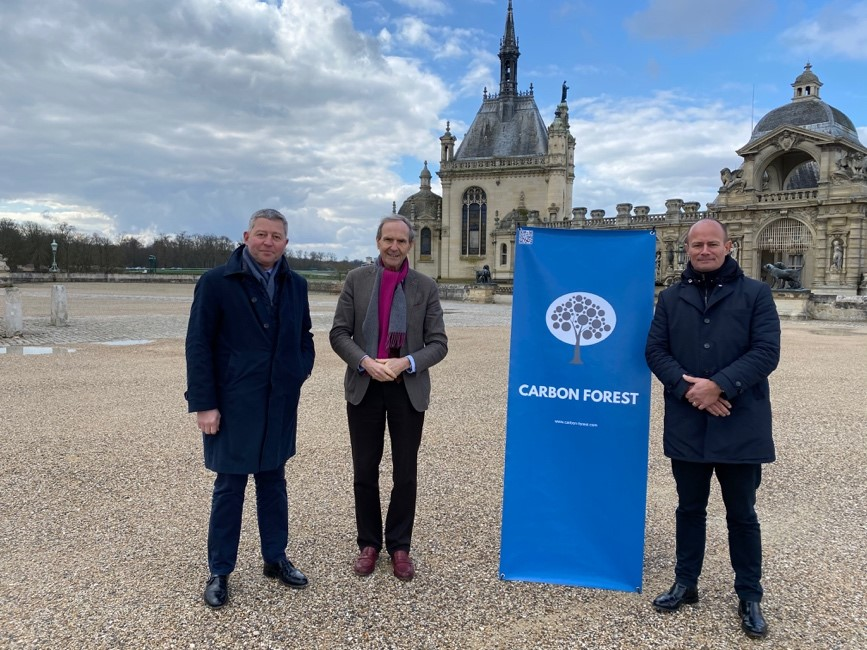 Carbon Forest sign with Aventim in Chantilly