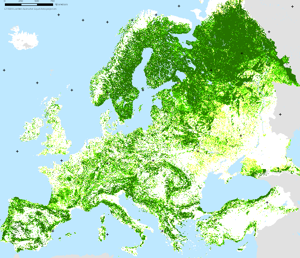 European forests in peril facing deforestation